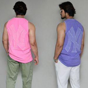 Pigment Wash Embroidery Undershirt-Tank 267