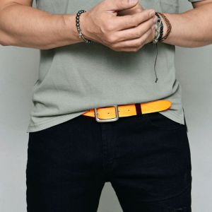 Coloful Vintage Wash Leather-Belt 210