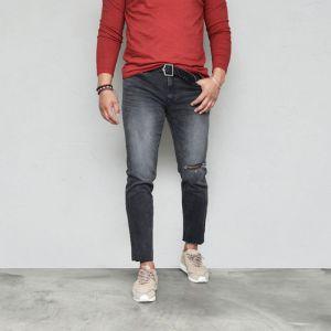 Washed Slim Vintage Black Ankle-Jeans 564
