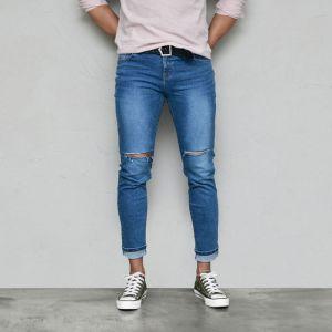 Vintage Cut Slim Stretchy Blue-Jeans 565