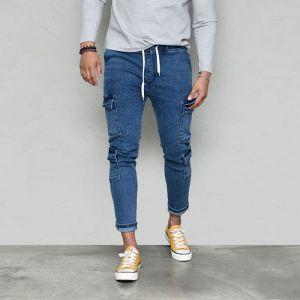 Slim Fit Denim Multi Cargo-Jeans 569