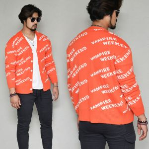 Funky Lettering Sweater-Cardigan 311