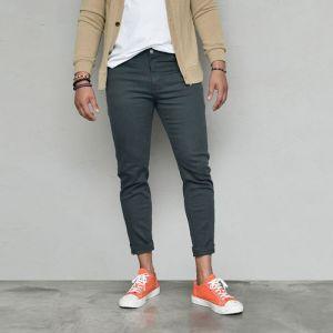 Washing Cotton Urban Slim-Pants 608