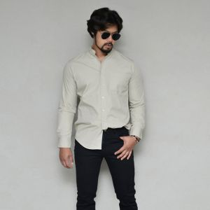 Slim fit Urban Standing Collar-Shirt 328