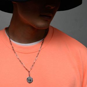 Tough Chain Face Coin Steel-Necklace 410
