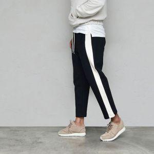 Wide Line Contrast Ankle Jersey-Sweatpants 440