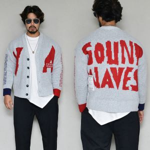 Sound Waves Cozy Sweater-Cardigan 316