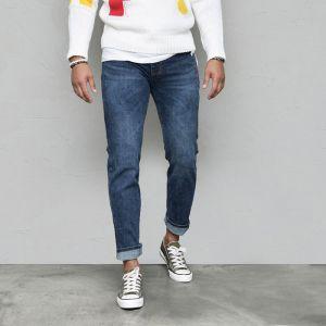 Tone Down Blue Comfy Slim-Jeans 585