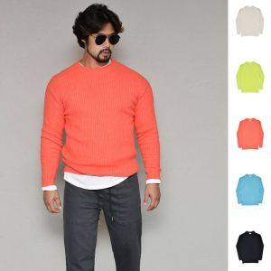 Colorful Slim Ribbed Sweater-Knit 256