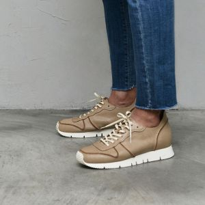 Vintage Crack Cowhide Leather Sneakers-Shoes 835