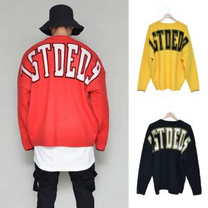 Funky Big Lettering Overfit Sweater-Knit 257