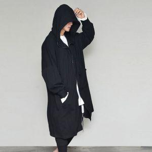 Oversized Big Hood Long Zipup-Hoodie 355