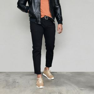 Stretchy Black Slim Ankle-Jeans 588
