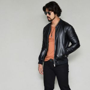 Slim Urban Leather Blouson-Leather 173