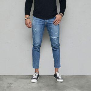 Vintage Cutting Slim Crop Ankle-Jeans 589