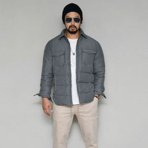 Duck Down Slim Shirt Padding-Parka 116