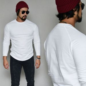Cozy Full Fleece Lined Slim Raglan-Tee 350
