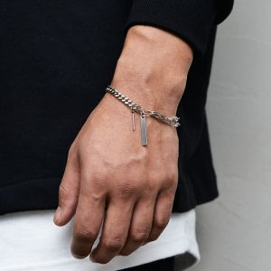 Stick Steel Chain Cuff-Bracelet 507