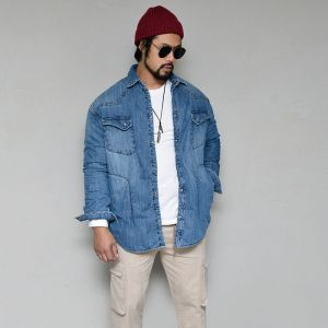 Toasty 8oz Padding Slim Denim-Parka 117