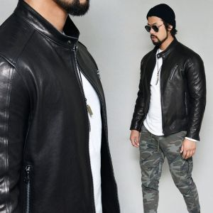 Sleek Lambskin Slim Biker-Leather 173