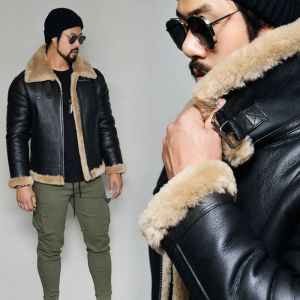 100% Full Shearling Lambskin Aviator-Leather 175