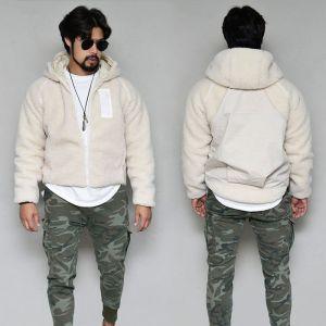 Unbalance Tech Crop Shearling Hood-Jacket 417