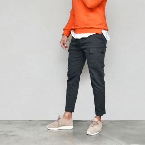 Daily Washed Slim Cargo Banding-Pants 638