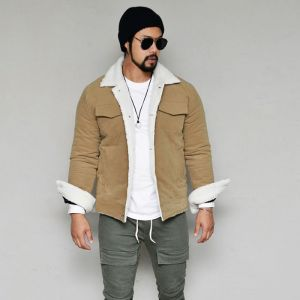 Cozy Casual Slim Shearling-Jacket 418