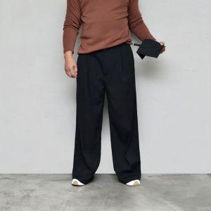 Super Wide Pocket Bag Slacks-Pants 640