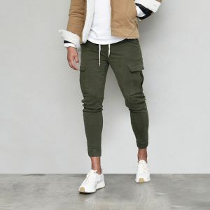 Cozy Fleece Slim Cargo Jogger-Pants 641