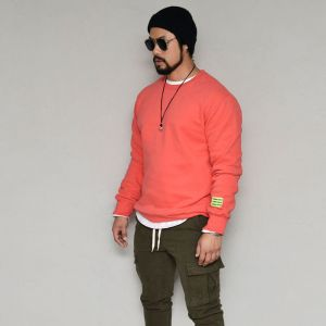 Neon Patch Warm Fleece Round-Tee 359