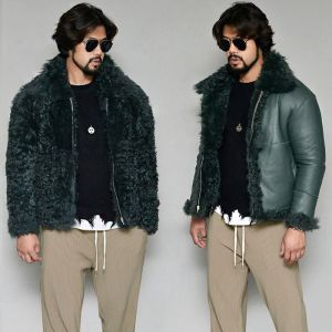 Glam Rich Reversible 100% Shearling-Leather 177
