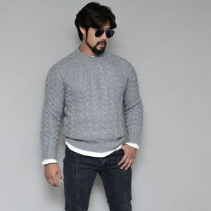 Angora Mohair Wool Raglan Sweater-Knit 268