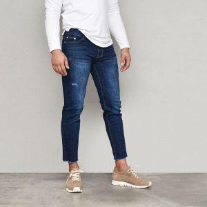 Deep Blue Slim Stretchy Ankle-Jeans 596