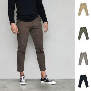 Slim Stretchy Fleece half Banding-Pants 646