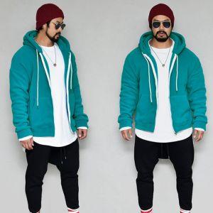 Warm & Cozy Fleece Hood Zipup-Hoode 362