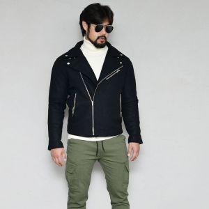 Classic Masculine Woolen Rider-Jacket 424